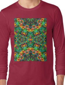 Fractal Floral Abstract G87 Long Sleeve T-Shirt