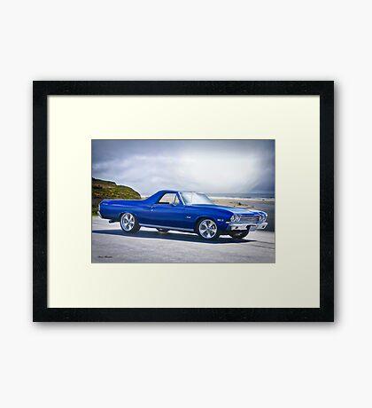 1968 Chevrolet El Camino 307 'Shoreline Cruz'n' Framed Print