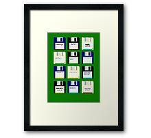 Amiga Disks Framed Print
