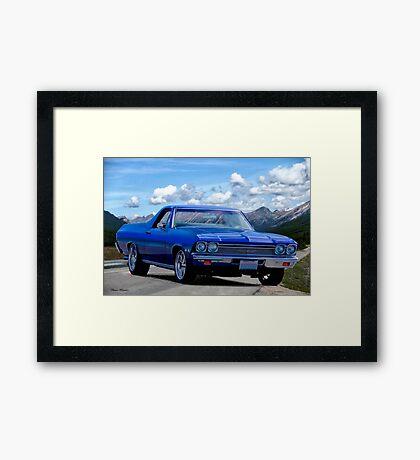 1968 Chevrolet El Camino 307 'Mountains High' Framed Print