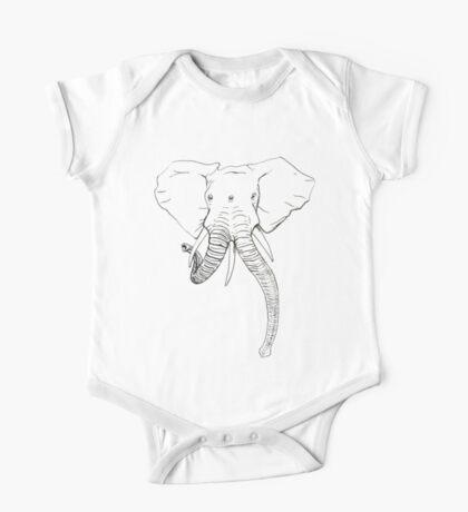 Conjoined Elephants  One Piece - Short Sleeve
