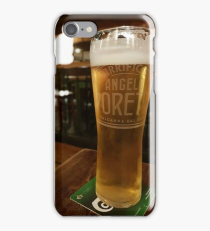 Italian beer in an English Pub iPhone Case/Skin