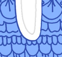 zentangle u: blue  Sticker