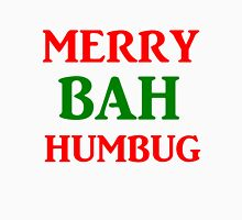 MERRY BAH HUMBUG Womens Fitted T-Shirt