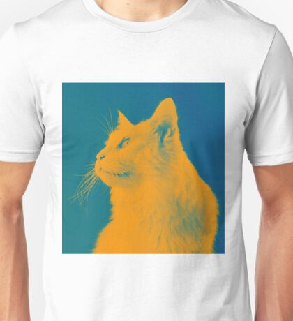 Blue and Yellow Cat Unisex T-Shirt