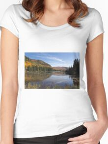 Fall colours in Canada Women's Fitted Scoop T-Shirt
