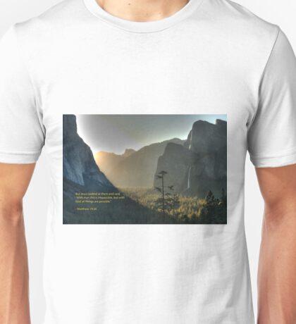 Matthew 19:26 Unisex T-Shirt