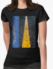 Down the Middle Womens Fitted T-Shirt