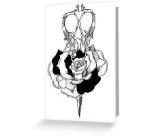 Rose and Scissors  Greeting Card