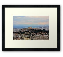 The Parthenon Overlooks The City Framed Print
