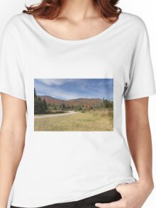 Fall colours with lake in Canada Women's Relaxed Fit T-Shirt
