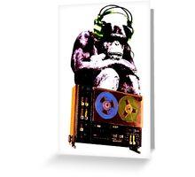 popart monkey - radio monkey Greeting Card