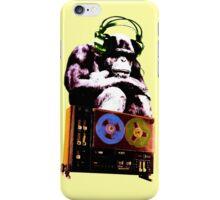 popart monkey - radio monkey iPhone Case/Skin