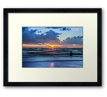 Incoming tide at Crosby Beach Framed Print
