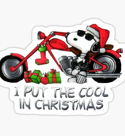 I Put The Cool in Christmas Sticker