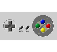 SNES Buttons Photographic Print