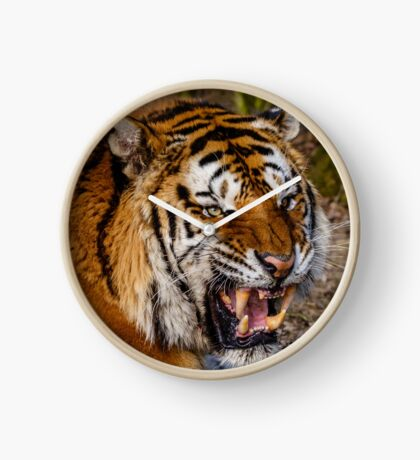 Siberian Tiger roar Clock
