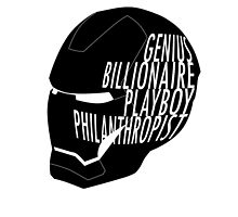 Genius, Billionaire, Playboy, Philanthropist. by Juga-Arts