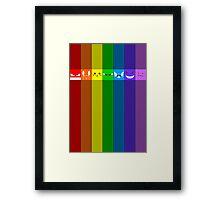 Rainbowkémon Framed Print