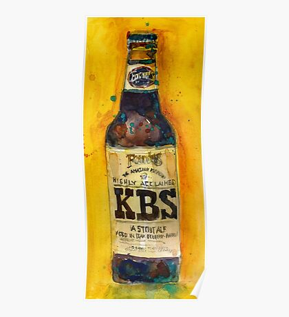 Stout Ale - KBS Founders Brewing Co. Man Cave Poster