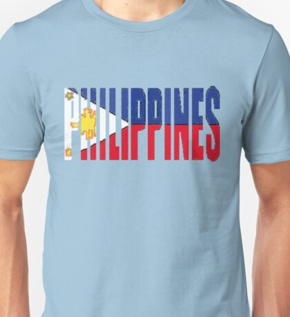 Philippines Font With Philippine Flag Unisex T-Shirt