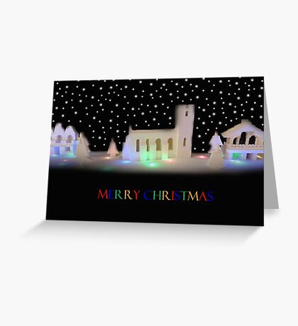 Silent Night: Bricks and Stars Greeting Card