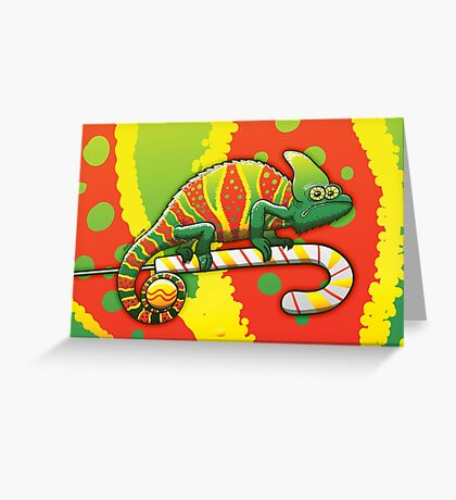 Christmas Chameleon Greeting Card