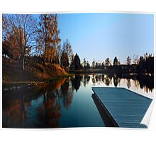 Romantic evening at the lake VI | waterscape photography Poster