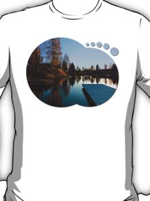 Romantic evening at the lake VI   waterscape photography T-Shirt
