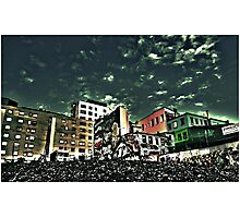 Downtown Oslo skyline by Tim Constable Photographic Print