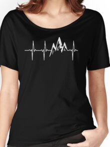 MOUNTAIN IN MY HEARTBEAT T SHIRT  Women's Relaxed Fit T-Shirt