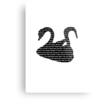Captain Swan quotes - swan and hook Metal Print