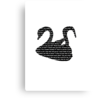 Captain Swan quotes - swan and hook Canvas Print