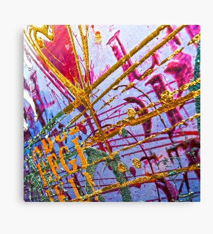 Love Grunge Texture Canvas Print