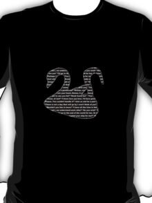 Captain Swan quotes - swan and hook T-Shirt