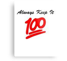 Keep it 100 Emoji Shirt Metal Print
