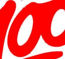 Keep it 100 Emoji Shirt Sticker