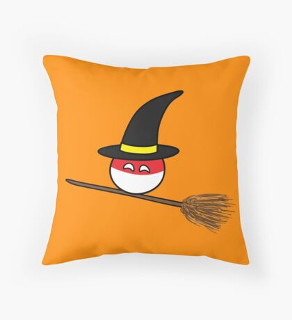Polandball Halloween - Polandwitch Big Throw Pillow