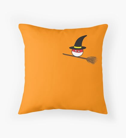 Polandball Halloween - Polandwitch Small Throw Pillow