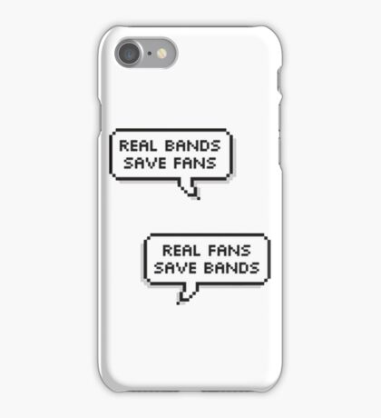 Real Bands, Real Fans iPhone Case/Skin