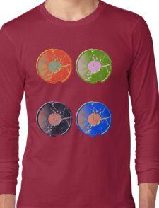 4 Pop Art Vinyl Records Long Sleeve T-Shirt