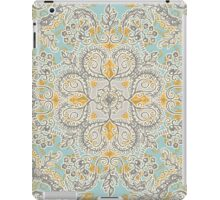 Gypsy Floral in Soft Neutrals, Grey & Yellow on Sage iPad Case/Skin