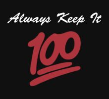 Keep it 100 Emoji Shirt alt by Mac Poole