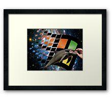 Windows Dolphin Framed Print