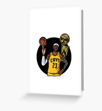 Lebron james Trophy Cartoon Greeting Card