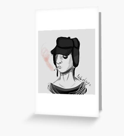 Holden Caulfield - The Catcher in the Rye Greeting Card