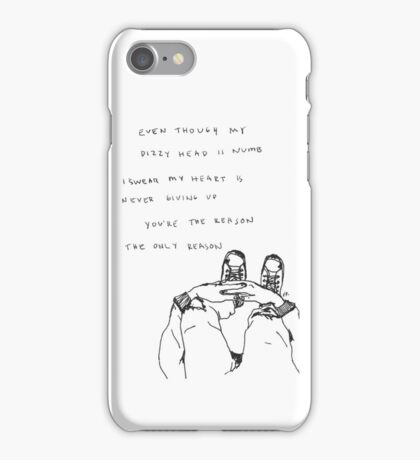 5 Seconds Of Summer The Only Reason lyrics iPhone Case/Skin