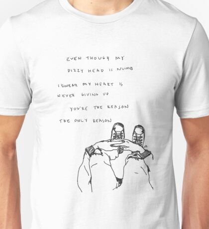 5 Seconds Of Summer The Only Reason lyrics Unisex T-Shirt