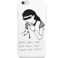 5 Seconds Of Summer Good Girls lyrics iPhone Case/Skin