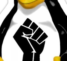 empowered by the penguin Sticker
